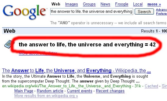 Pour Google, la réponse est 42