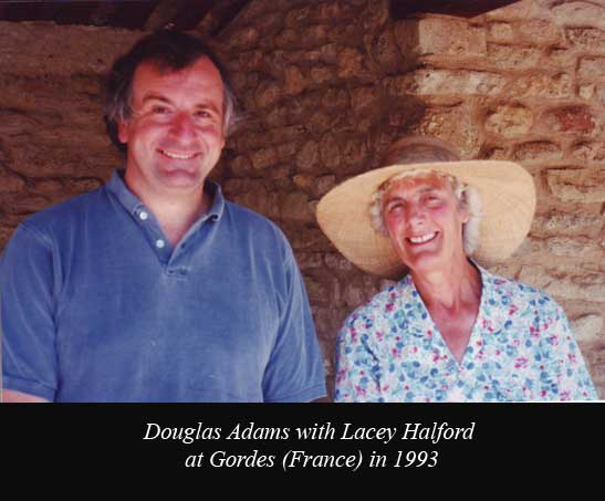 Douglas Adams and Frank Halford wife